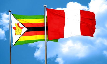 bandera de peru: bandera de Zimbabwe con el indicador de Perú, 3D