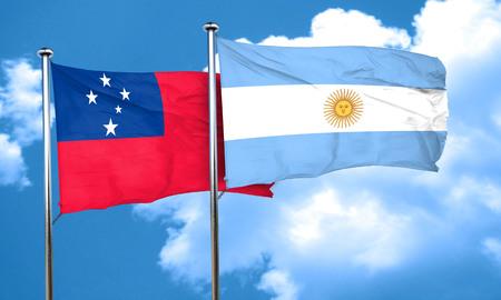 argentine: Samoa flag with Argentine flag, 3D rendering Stock Photo
