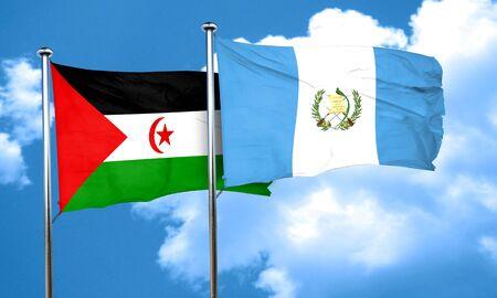 bandera de guatemala: Bandera de Western Sahara con la bandera de Guatemala, 3D