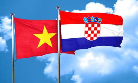 bandera de croacia: Vietnam bandera de la bandera de Croacia, 3D