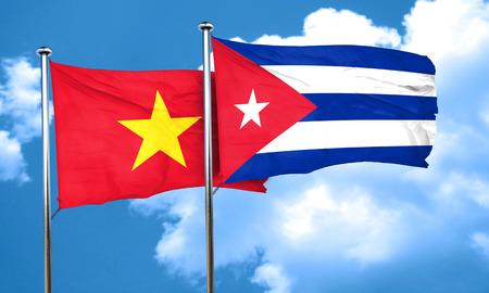 bandera cuba: Vietnam bandera de la bandera de Cuba, 3D Foto de archivo