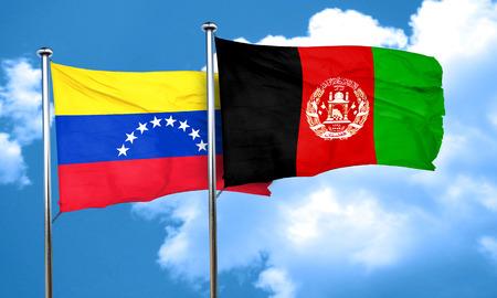 bandera de venezuela: bandera de Venezuela con la bandera de Afganist�n, 3D