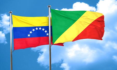 bandera de venezuela: bandera de Venezuela con la bandera de congo, 3D