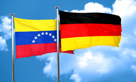 bandera de venezuela: bandera de Venezuela con la bandera de Alemania, 3D