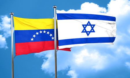 bandera de venezuela: Venezuela flag with Israel flag, 3D rendering