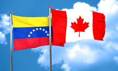 venezuela flag: Venezuela flag with Canada flag, 3D rendering