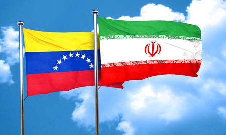 bandera de venezuela: bandera de Venezuela con la bandera de Irán, 3D
