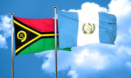 bandera de guatemala: Vanatu bandera de la bandera de Guatemala, 3D Foto de archivo