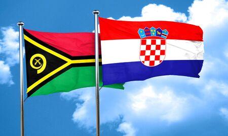 bandera croacia: Vanatu bandera de la bandera de Croacia, 3D