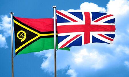 bandera de gran bretaña: Vanatu bandera de la bandera de Gran Bretaña, 3D Foto de archivo