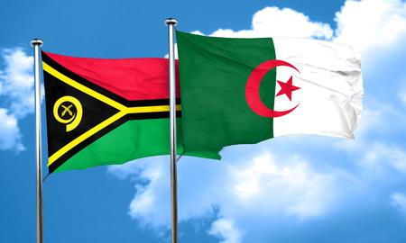 algeria: Vanatu flag with Algeria flag, 3D rendering
