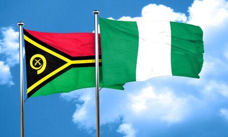 nigeria: Vanatu flag with Nigeria flag, 3D rendering