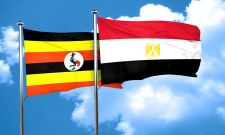bandera egipto: bandera de Uganda con la bandera de Egipto, 3D