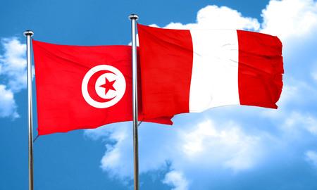 bandera de peru: bandera de Túnez con la bandera de Perú, 3D