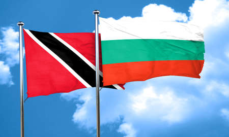 tobago: Trinidad and tobago flag with Bulgaria flag, 3D rendering