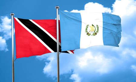 bandera de guatemala: Bandera de Trinidad and Tobago con la bandera Guatemala, 3D Foto de archivo