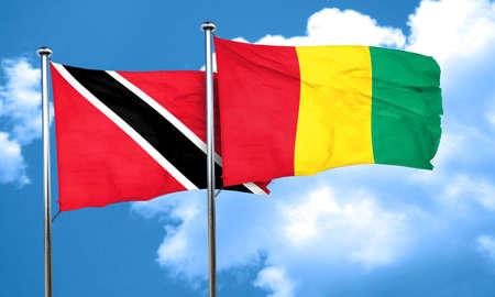 tobago: Trinidad and tobago flag with Guinea flag, 3D rendering Stock Photo