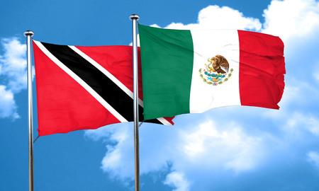 tobago: Trinidad and tobago flag with Mexico flag, 3D rendering