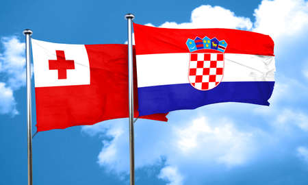 bandera de croacia: bandera de Tonga con la bandera de Croacia, 3D