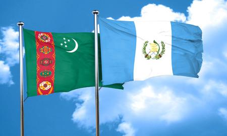 bandera de guatemala: bandera de Turkmenistán con la bandera de Guatemala, 3D