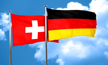 switzerland flag: switzerland flag with Germany flag, 3D rendering