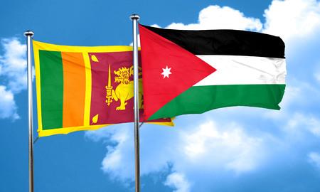 sri: Sri lanka flag with Jordan flag, 3D rendering