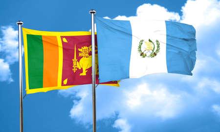 bandera de guatemala: bandera de Sri Lanka con la bandera de Guatemala, 3D