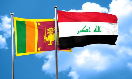 iraq flag: Sri lanka flag with Iraq flag, 3D rendering Stock Photo