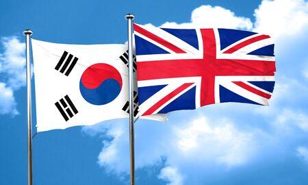 bandera de gran bretaña: Bandera de Corea del Sur con la bandera de Gran Bretaña, 3D Foto de archivo