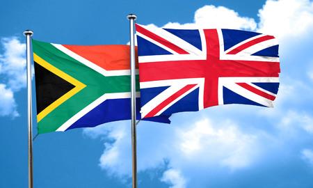 bandera de gran bretaña: Indicador de Suráfrica con la bandera de Gran Bretaña, 3D