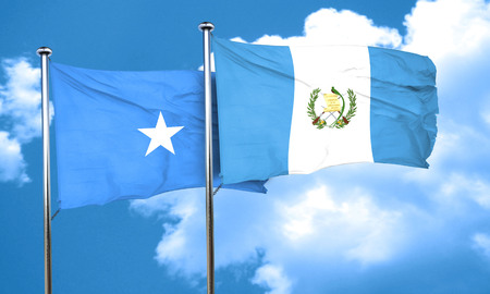 somalian culture: Somalia flag with Guatemala flag, 3D rendering