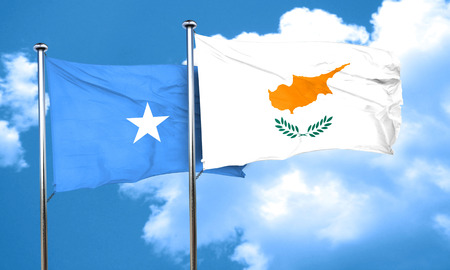 somalian culture: Somalia flag with Cyprus flag, 3D rendering