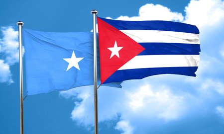 bandera cuba: bandera de Somalia con la bandera de Cuba, 3D Foto de archivo