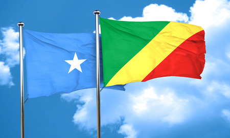 somalia: Somalia flag with congo flag, 3D rendering Stock Photo