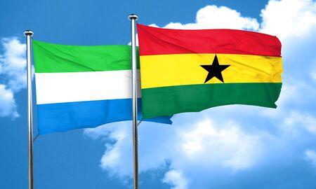 sierra: Sierra Leone flag with Ghana flag, 3D rendering Stock Photo