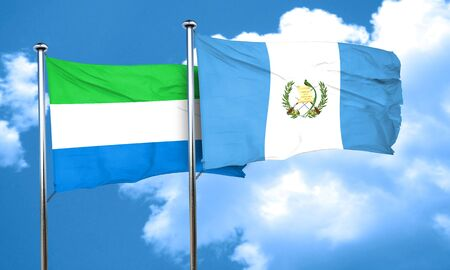 sierra: Sierra Leone flag with Guatemala flag, 3D rendering