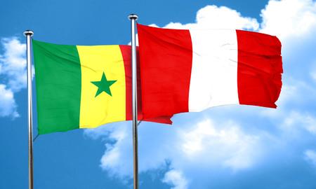 bandera de peru: bandera de Senegal con la bandera de Perú, 3D