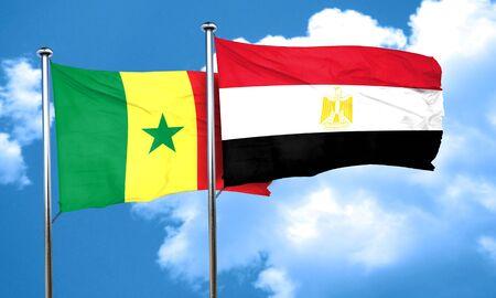 bandera egipto: bandera de Senegal con la bandera de Egipto, 3D