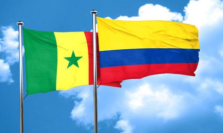 bandera de colombia: bandera de Senegal con la bandera de Colombia, 3D