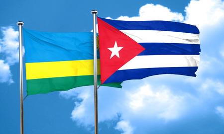 bandera de cuba: bandera de Ruanda con la bandera de Cuba, 3D