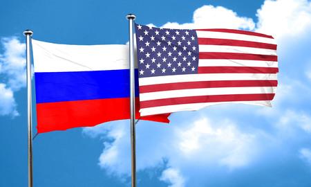 bandera rusia: bandera de Rusia, 3D Foto de archivo
