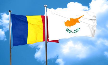 romania flag: Romania flag with Cyprus flag, 3D rendering