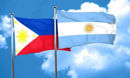 argentine: Philippines flag with Argentine flag, 3D rendering