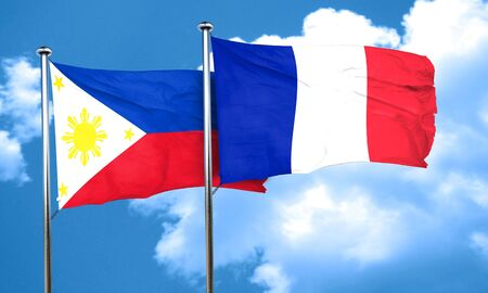 philippino: Philippines flag with France flag, 3D rendering Stock Photo