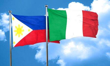 philippino: Philippines flag with Italy flag, 3D rendering Stock Photo