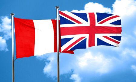 bandera de gran bretaña: bandera de Perú con la bandera de Gran Bretaña, 3D