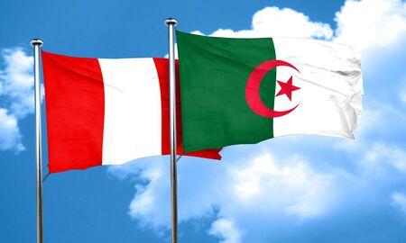 bandera de peru: bandera de Perú con la bandera de Argelia, 3D