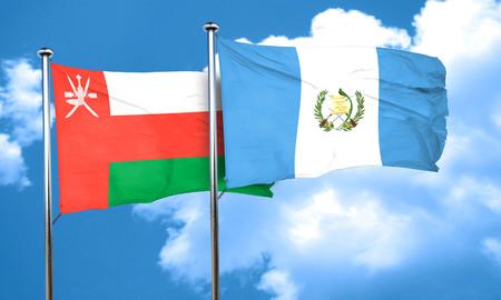 bandera de guatemala: bandera de Om�n con la bandera de Guatemala, 3D