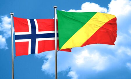 norway flag: norway flag with congo flag, 3D rendering Stock Photo