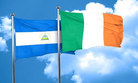 bandera de irlanda: bandera de Nicaragua con la bandera de Irlanda, 3D